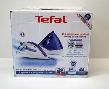 Tefal GV7631 Express Compact Easy Plus, 5,7 Bar, purple / weiß