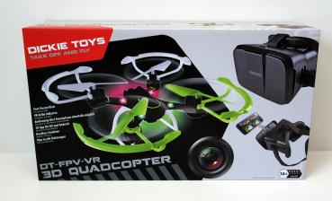 Dickie Toys RC DT FPV-VR Quadrocopter, funkferngesteuert mit Kamerafunktion und Virtual Reality Brille, 20 cm