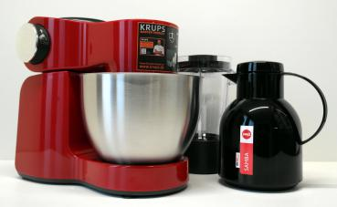 Krups Master Perfect Plus KA25 Küchenmaschine in rot incl. Isolierkanne