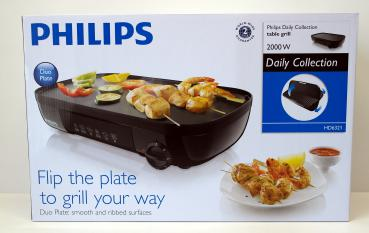 PHILIPS Daily Collection HD6321/20 Tischgrill 2000W