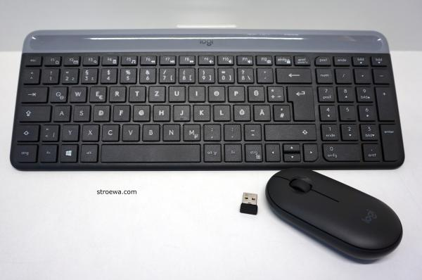 Logitech Slim Wireless Combo MK470-Tastatur und Maus Set