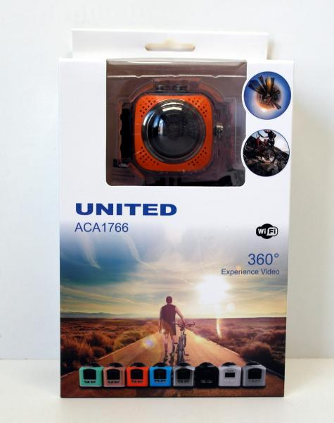 United Aca 1766 Wifi Full HD 360 Grad Action Kamera orange